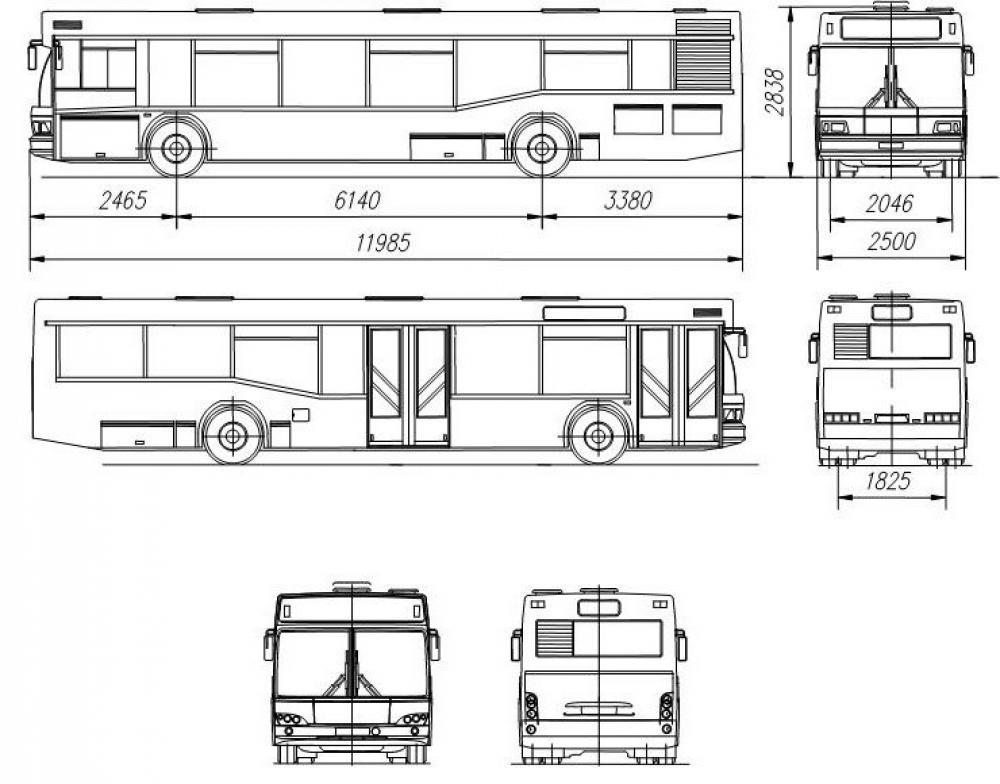 Автобус отличается планировкой