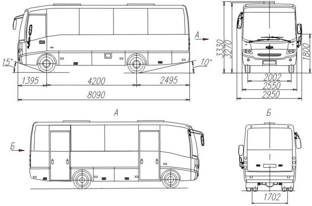 туристического автобуса,